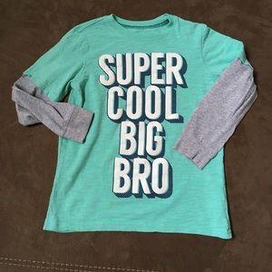 Carter's Boys Long Sleeve Big Bro Shirt